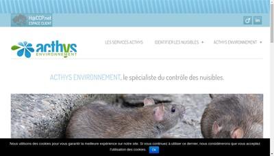 Site internet de Acthys Environnement