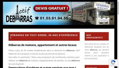 Site internet de Actif Debarras