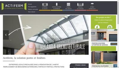 Site internet de Actiferm Habitat