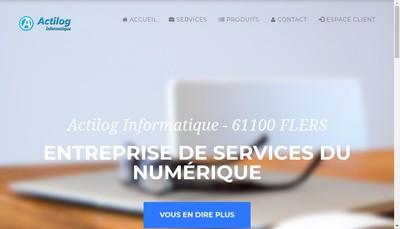 Site internet de Actilog Informatique