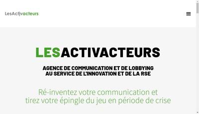 Site internet de Actine Strategies
