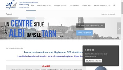 Site internet de Action Formation 81