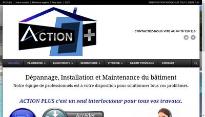 Site internet de Action Plus
