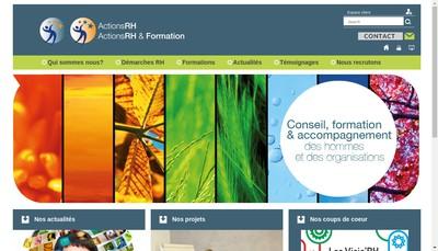 Site internet de Actions Rh