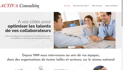 Site internet de Activa Consulting