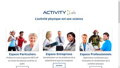 Site internet de Activity Lab