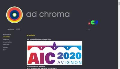 Site internet de Ad Chroma