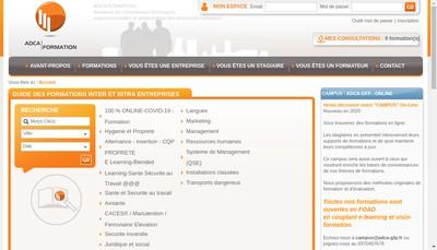 Site internet de Adca Gfp
