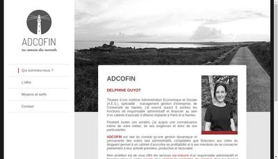 Site internet de Adcofin