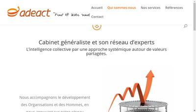 Site internet de Adeact