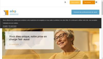Site internet de Adep Assistance