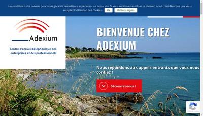 Site internet de Adexium