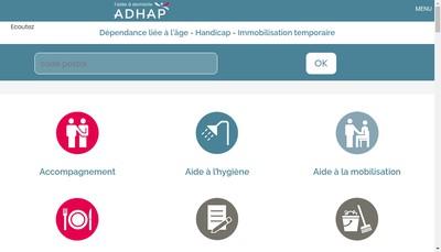Site internet de Adhap Services