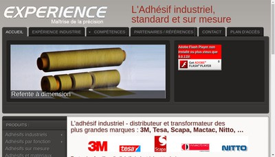 Site internet de Experience Industries