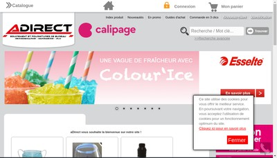 Site internet de Adirect