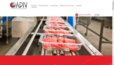 Site internet de Adiv Developpement