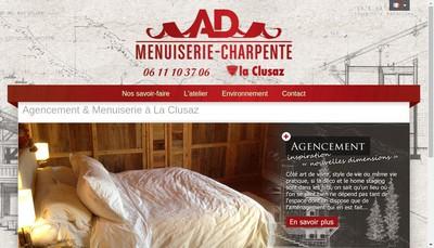 Site internet de Ad Menuiserie - Charpente