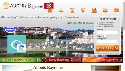 Site internet de Adonis Hotel Bayonne