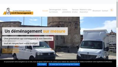 Site internet de ADR Demenagement