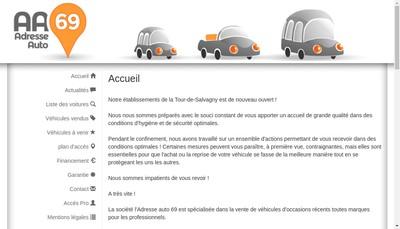 Site internet de Adresse Auto 69