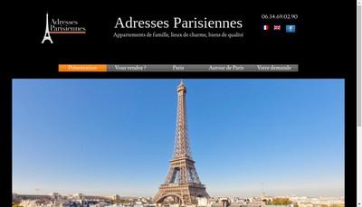 Site internet de Adresses Parisiennes