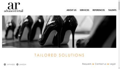 Site internet de Advanced Retail