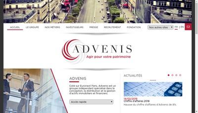 Site internet de Advenis Value Add