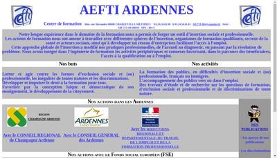 Site internet de Aefti Ardennes