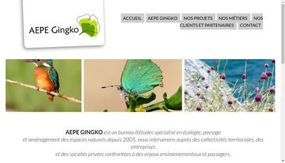Site internet de SARL Aepe Gingko