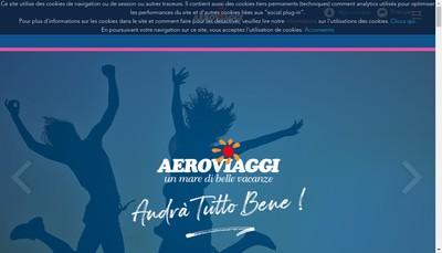 Site internet de Aeroviaggi