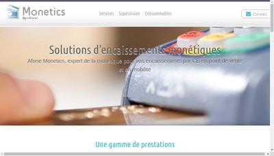Site internet de Afone Monetics