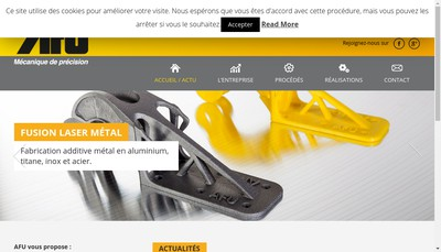 Site internet de Atelier Fabrication Usinage