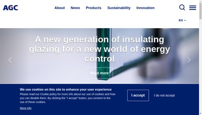 Site internet de Agc Glass Distribution