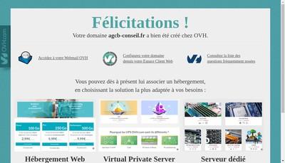 Site internet de Agcb Conseil