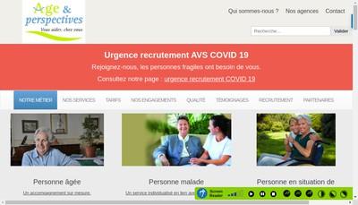 Site internet de Age et Perspectives Services