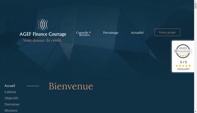 Site internet de Agef Finance Courtage