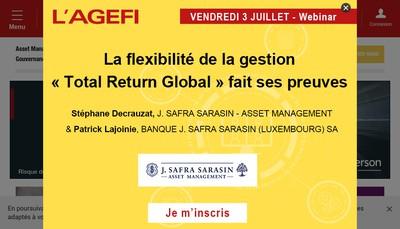 Site internet de Agence Economique et Financiere