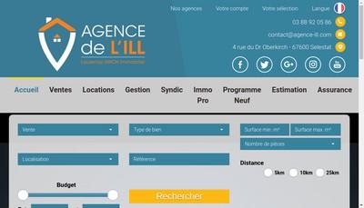 Site internet de Agence de l'Ill