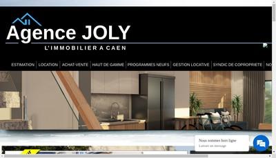 Site internet de Agence Immobiliere Joly