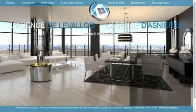 Site internet de L'Agence de Levallois