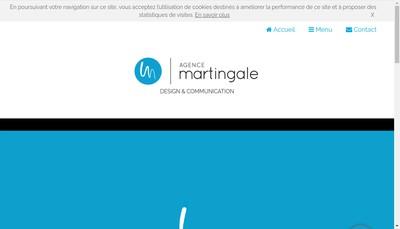 Site internet de Agence Martingale