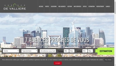 Site internet de La Maison de l'Immobilier