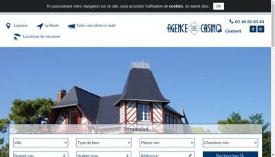 Site internet de Agence du Casino