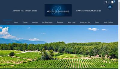 Site internet de Agence du Roannais