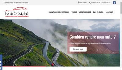 Site internet de L'Agence Facil'Auto