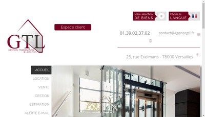 Site internet de Agence GTL