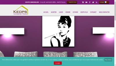 Site internet de Keops