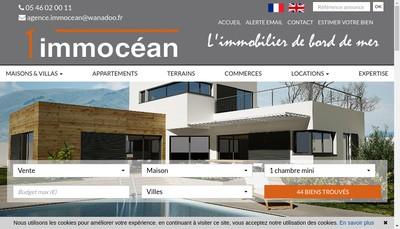 Site internet de Agence Immocean