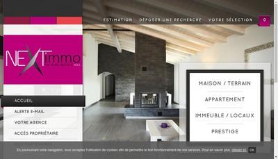 Site internet de Next Immobilier