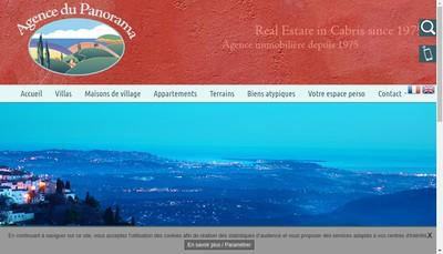 Site internet de Les Agences du Panorama
